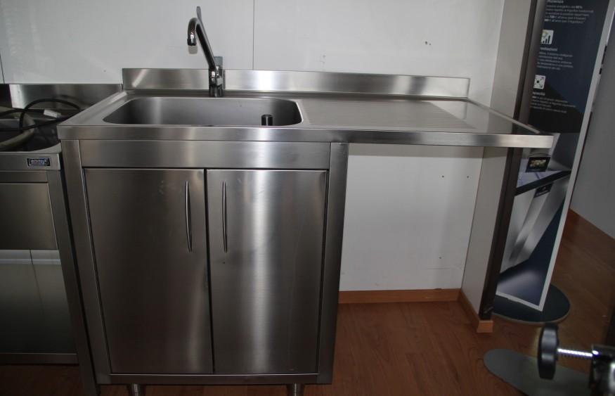 Lavello 1 vasca con gocciolatoio nencioni usato per ristorazione - Lavandino cucina ristorante ...